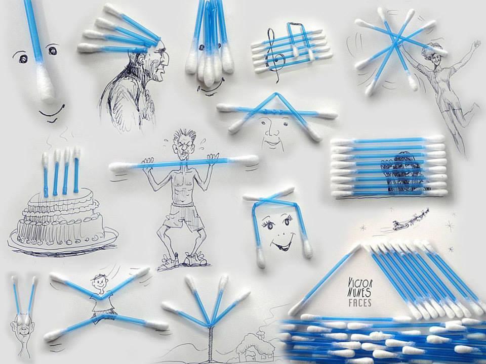 ilustraciones-2D-objetos-3D-bastoncillos-oidos-victor-nunes