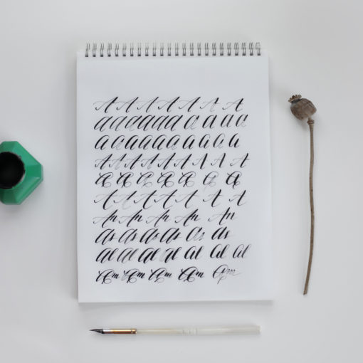 lettering notebook