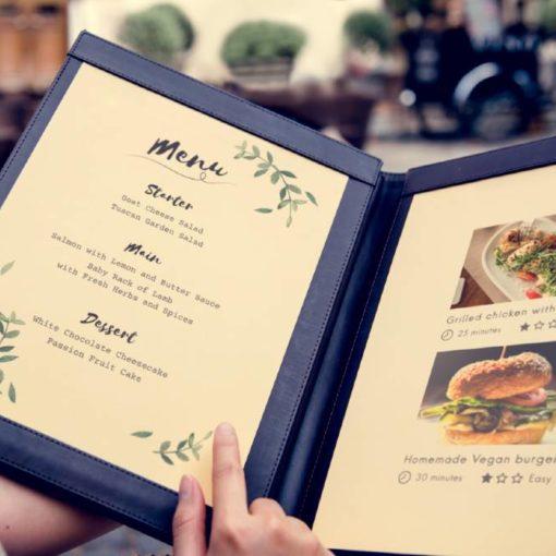como crea una carta de restaurante