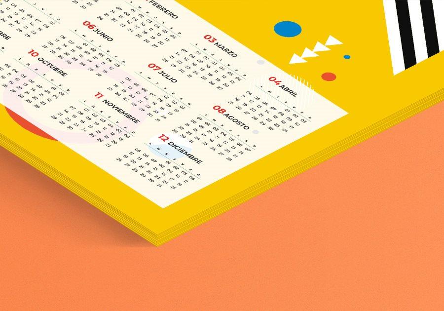 Calendario 2022 de sobremesa