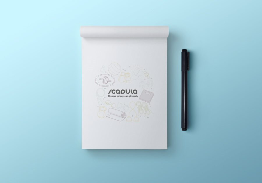 Bloc de notas con tu imagen y logotipo