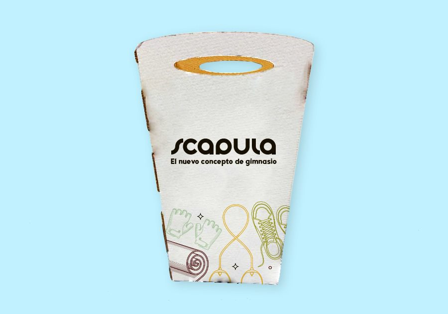 Papelera de cartón reciclable